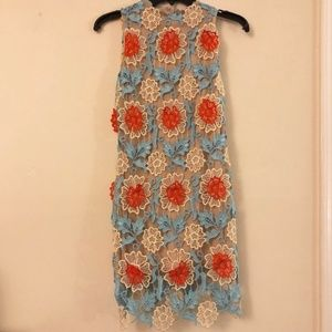 NWT Floral Overlay Dress